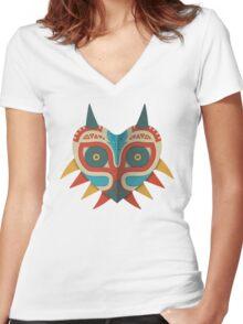 A Legendary Mask Women's Fitted V-Neck T-Shirt
