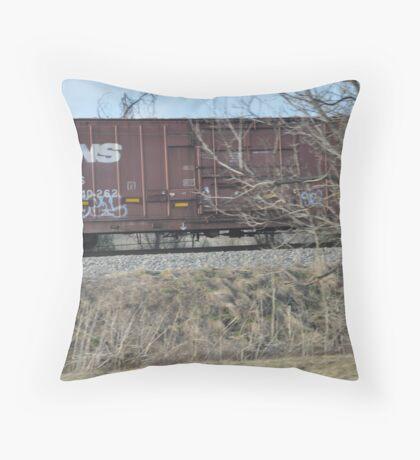 Train Car Throw Pillow
