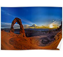 Delicate Arch HDR Poster