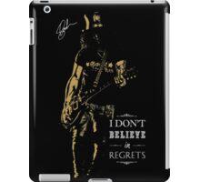 Musician golden poster on black background iPad Case/Skin