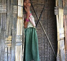 Mising tribe girl, Assam, India by John Mitchell