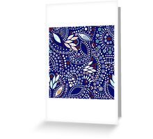 Seamless pattern modern texture abstract background with beads textile Greeting Card