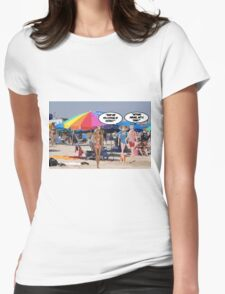 What Are You Looking At George? Womens Fitted T-Shirt