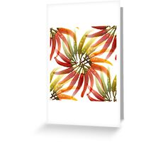 Seamless Red Hot Chilli Peppers Greeting Card