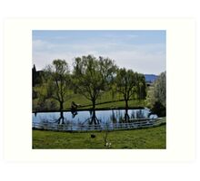 Weeping Willow Pond Art Print