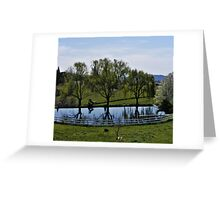 Weeping Willow Pond Greeting Card