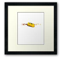A yellow utopic bag Framed Print