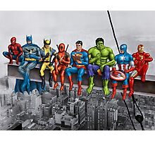 Superheroes on Girder Photographic Print
