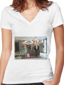 Check Me Out! Women's Fitted V-Neck T-Shirt