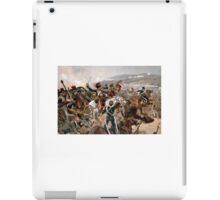 British cavalry charging against Russian forces at Balaclava in 1854 - Relief of the Light Brigade iPad Case/Skin