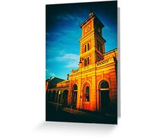 The Last Rays - Albury Train Station (2015) Greeting Card