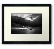 Dawn Cloudscape in Monochrome Framed Print
