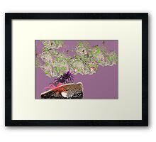 Pretty in Pink, digital image on german etching paper, A3 size Framed Print