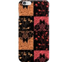 Patchwork seamless lace retro floral hearts iPhone Case/Skin
