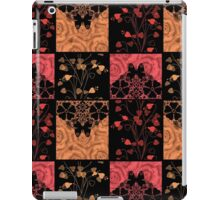 Patchwork seamless lace retro floral hearts iPad Case/Skin
