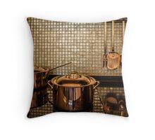 golden luxury kitchen cookware Throw Pillow