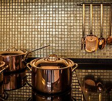 golden luxury kitchen cookware by mrivserg