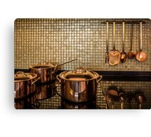 golden luxury kitchen cookware Canvas Print