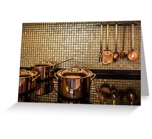 golden luxury kitchen cookware Greeting Card