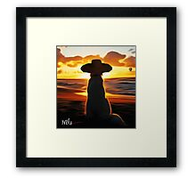 Alone by The Sea Framed Print