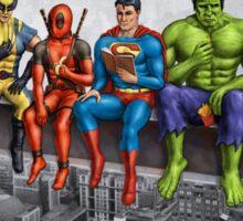 Superheroes on Girder Sticker