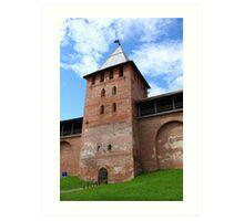 walls and towers of the Novgorod Kremlin Art Print