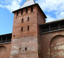 walls and towers of the Novgorod Kremlin by mrivserg