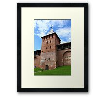 walls and towers of the Novgorod Kremlin Framed Print