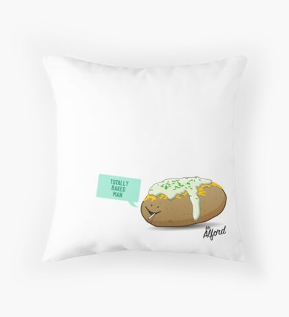 Happy Potato Festival Throw Pillow
