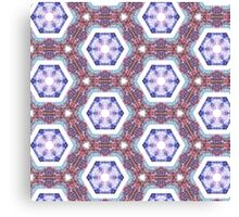 Psychedelic Hexagons Canvas Print