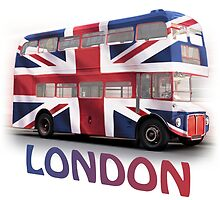 London Bus and Union Jack by artybloke7
