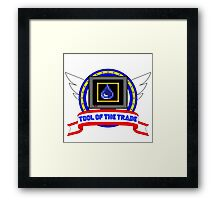 Tool of the Trade - Water Shield Framed Print