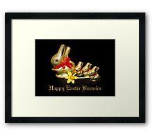 Chocolate Easter Bunnies Framed Print