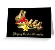 Chocolate Easter Bunnies Greeting Card