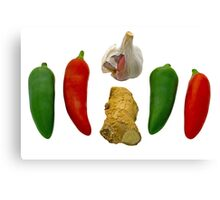 Chillies Garlic and Ginger Canvas Print