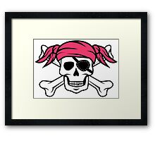 Pigtail Pirate Girl Framed Print