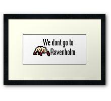 We Dont Go To Ravenholm 8bit Framed Print