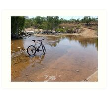 Outback Cycling Art Print