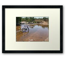 Outback Cycling Framed Print