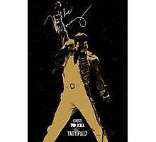 Rock music golden poster on black background Photographic Print