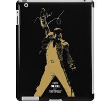 Rock music golden poster on black background iPad Case/Skin