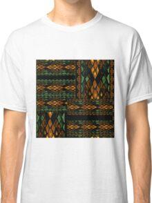 Patchwork seamless snake skin pattern Classic T-Shirt