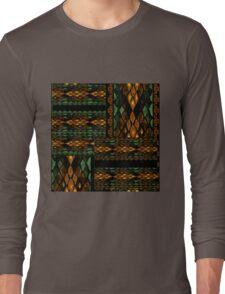 Patchwork seamless snake skin pattern Long Sleeve T-Shirt
