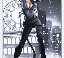 Cat Woman feels good tonight by Non Vale  Art