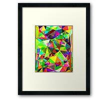 Geometric watercolor # 2  Framed Print