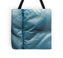 Leather Texture Blue Tote Bag