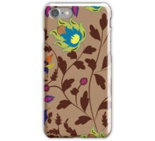 Chinese retro floral seamless pattern on beige iPhone Case/Skin