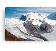 Glaciers above Zermatt, Switzerland. Metal Print