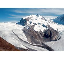Glaciers above Zermatt, Switzerland. Photographic Print