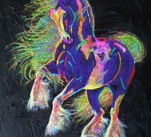Glitter & Gold Pony by louisegreen